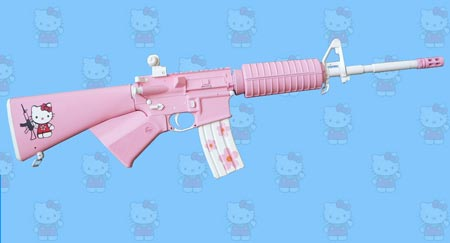 rifle hello kitty