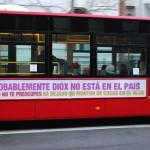 Slogan en el autobus