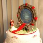 Una tarta de boda geek