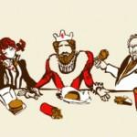 Ultima cena: version fast food