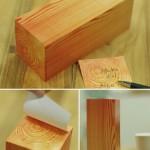Post-it con forma de tronco