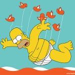 Homer sobrevuela twiter