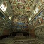 Paseando por la capilla Sixtina