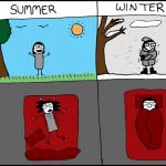Diferencias entre verano e invierno